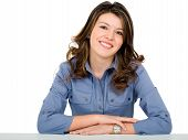 pic of casual woman  - beautiful young business woman portrait  - JPG