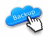 Backup Cloud Button poster
