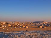 Постер, плакат: Многие малые скалы в Белой пустыне Ливийской пустыни Египет