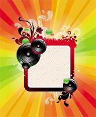 Frame, loudspeakers & rainbow rays