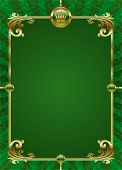 Green background with golden luxury frame
