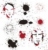 faces in ink and blood spots