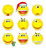 Gelbe Vector Smiley set
