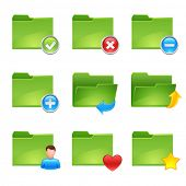 vector folder icons set2