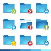 9 vector folder icons set 3