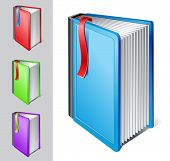 vector illustration of book with bookmark