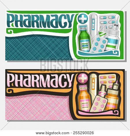 Vector Banners For Pharmacy With