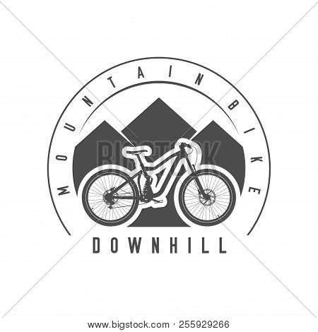 Mountain Bike Downhill Emblem Or