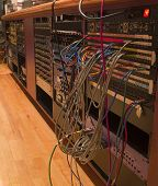 Recording Studio Patch Bay And Rack