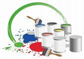 Pots With Paints