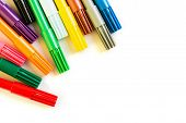 Colorful Marker Pen On Isolated Background. poster