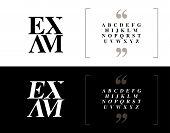 Elegant Alphabet Letters Set. Classic Custom Lettering Designs For Logo, Poster, Invitation, Etc. Ty poster