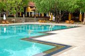 Swimming Pool At The Luxury Hotel, Bentota, Sri Lanka