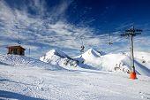 Ski Resort In High Mountain