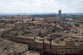 Arial view of Siena, Italy, August 2011