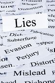 Lies Concept - A Conceptual Look At Lies Or Lying, Evasion And Dishonesty. poster