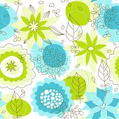 Whimsical floral seamless pattern