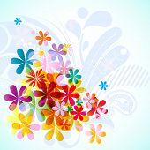 Bright floral spring background