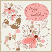 picture of happy birthday card  - Happy birthday card for children - JPG
