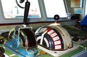 The ship control panel, interior