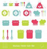 Kitchen vector icon set