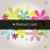 Abstract flower background, vector