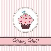 Cupcake card with a ring