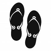 Flip Flop Sandals Icon. Simple Illustration Of Flip Flop Sandals Icon For Web Design poster