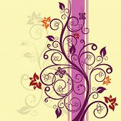 Purple and pink floral vector illustration