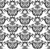 Seamless luxury black & white wallpaper