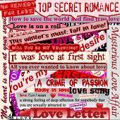Valentine's background, easy editable