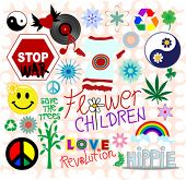 Hippie design elements