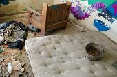 Dirty Mattress In Abandoned House