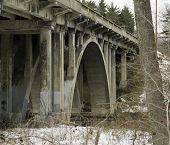 Highway Bridge Over Pond