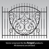 Ornamento vetor dos produtos forjados