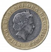 British Two Pound Coin (front)