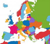 Colorful Europe map