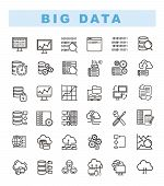 Big Data Icons Set And Web Analytics Icons Set. Data Analytics And Network Concept Icons. Database A poster