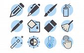 Shutterstock - Photo Editor Icon Pack 06.eps poster