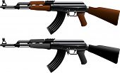foto of kalashnikov  - Assault rifle ak47 - JPG