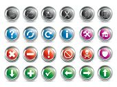 Vector buttons set  for web and computing