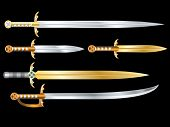 pic of longsword  - Set of vector swords - JPG