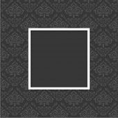 Seamless floral pattern with frame