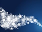 image of snow border  - Winter Snowflake Background - JPG