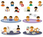 set of funny vector people icons