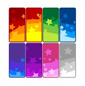 10 vector colorful banners