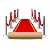 Vector red carpet illustration