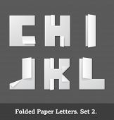 Vector folded paper letters