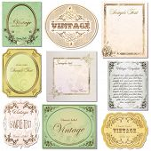 picture of art nouveau  - vector set vintage labels 6 - JPG