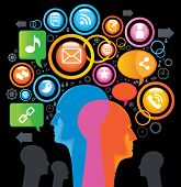Social-Media-SING.The development of global communications. Communication in mobile and internet networks